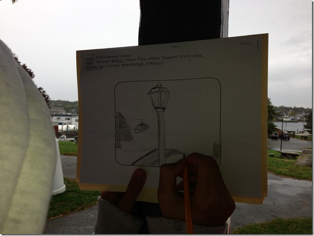 Jordan Govani limited view sketch in process
