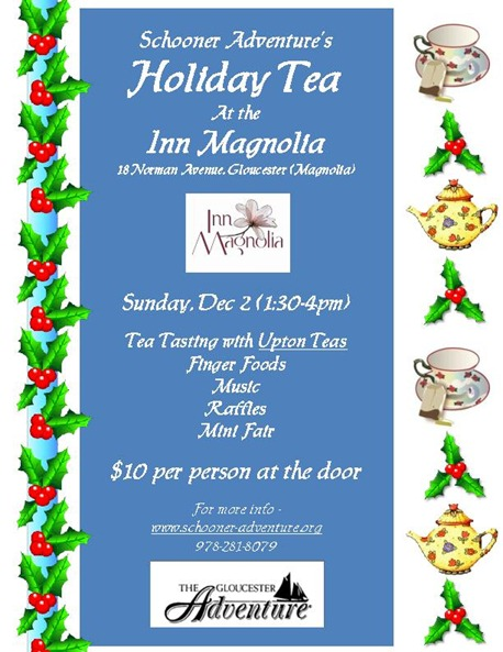 2012 Schooner Adventure Holiday Tea poster001