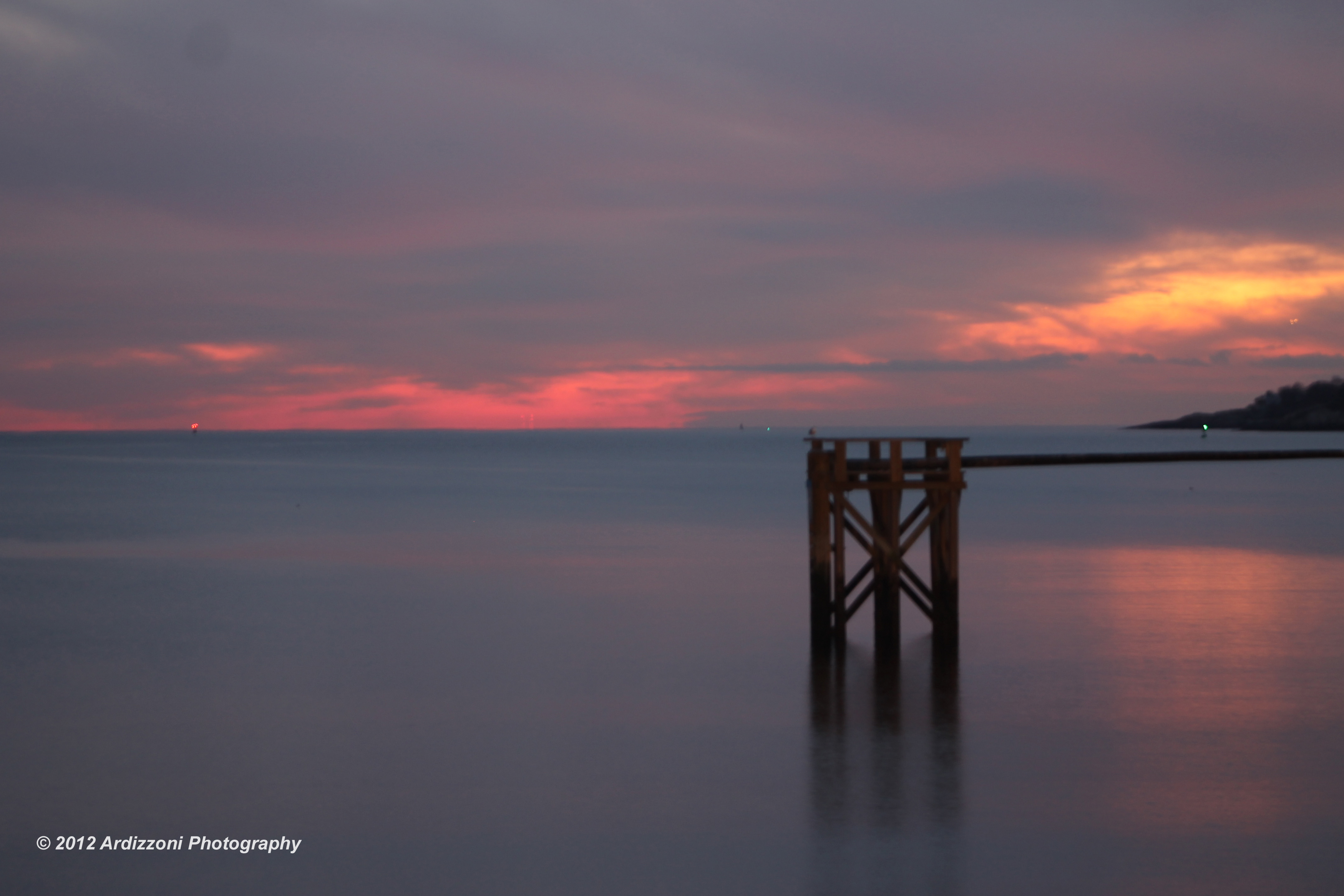 November 28, 2012 sunset over the greasy pole