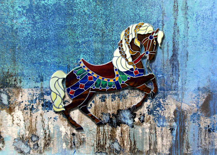 carousel horse abstract copy
