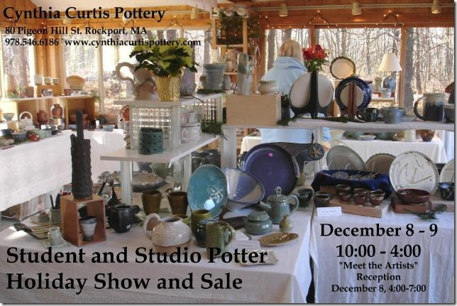 cynthia curtis pottery 7th annual student and studio potter holiday show and sale dec 8-9 2012