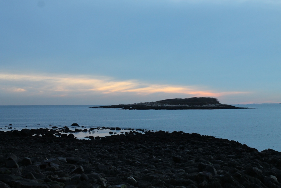 December 12, 2012 Sunset over Kettle Cove Island