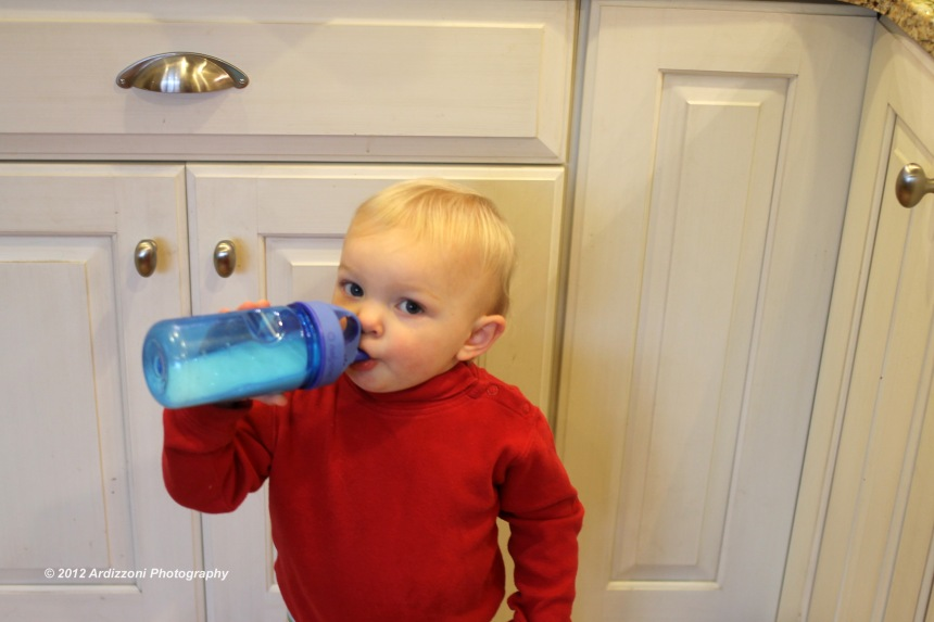 December 2, 2012 Avery with her sippy cup