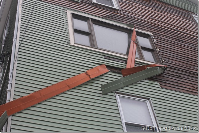 December 27, 2012 siding blowing off due to the winds