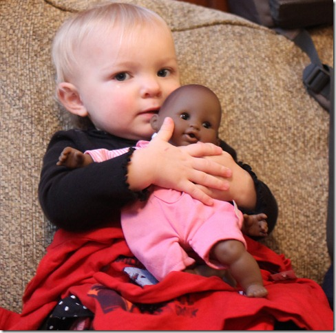 December 8, 2012 Avery with her new doll