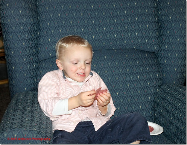 December 8, 2012 Cole enjoying salami