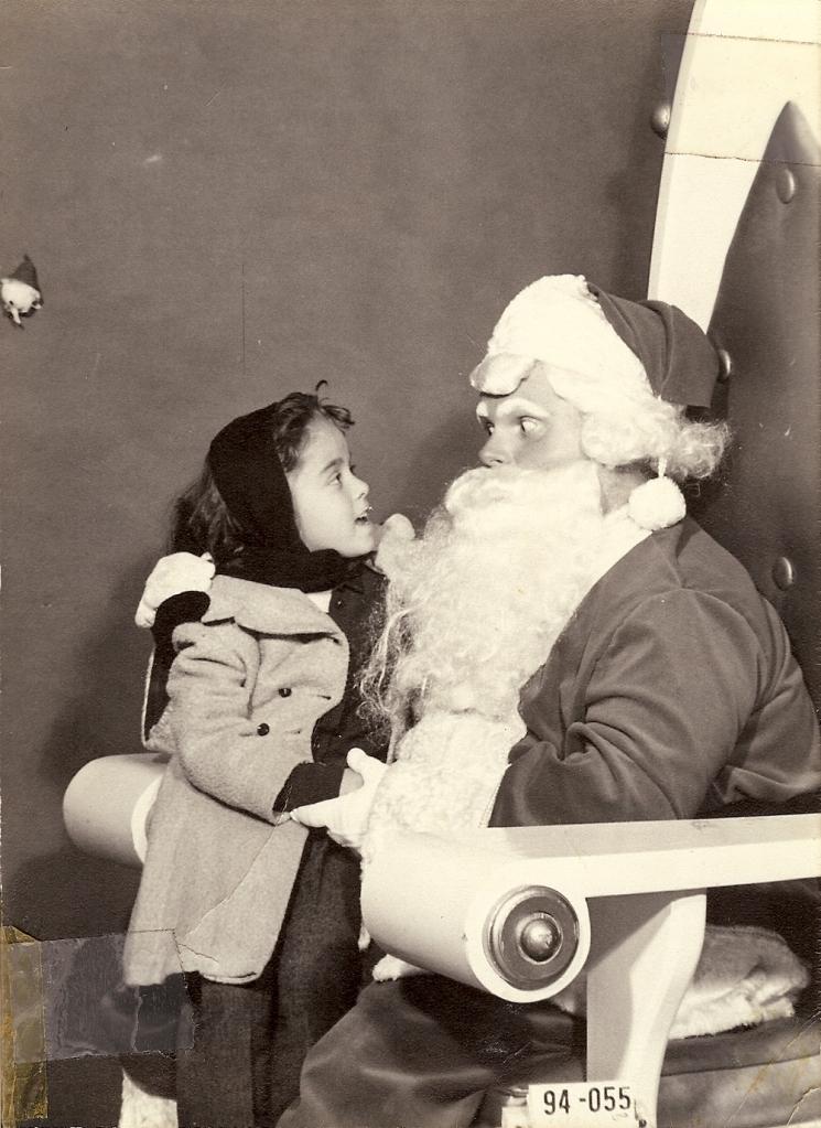 Donna and Santa age 5