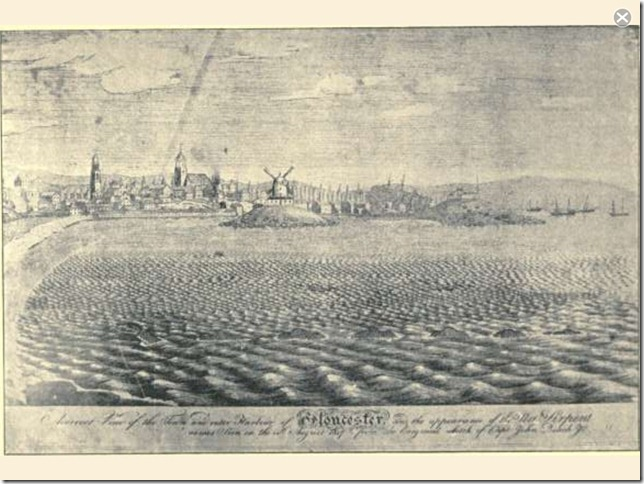 Gloucester Harbor sketch, 1817