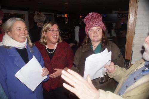 Mayor Kirk with her doppelganger