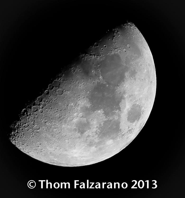 Jan 19th Moon over the ocean - Photos/ThomFalzatano