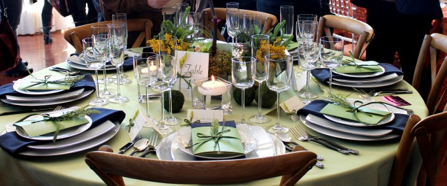 Pretty table setting