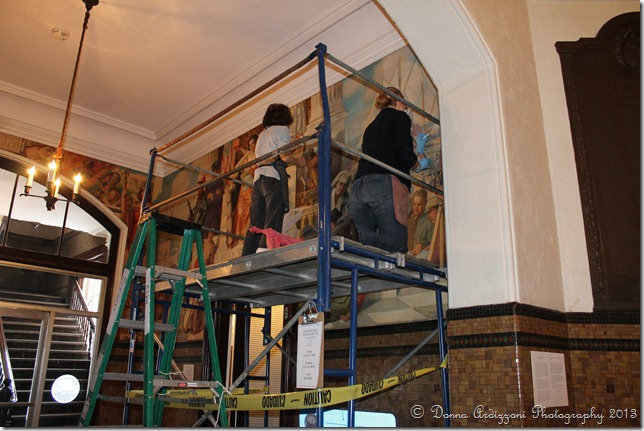 January 29, 2013 Cleaning the mural
