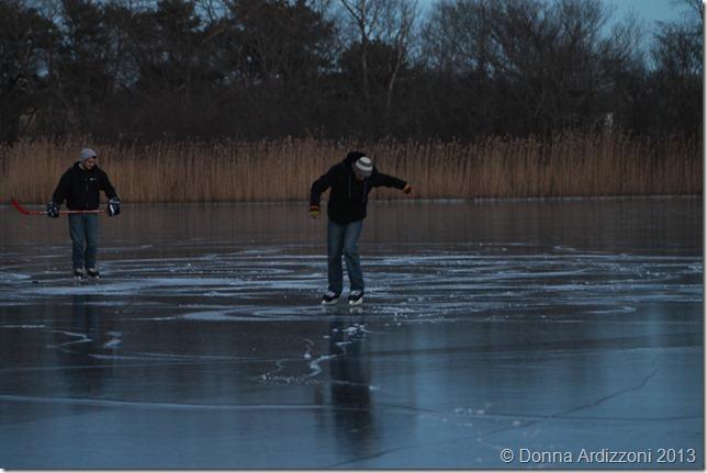 January 5, 2012 playing hockey on Clarke Pond