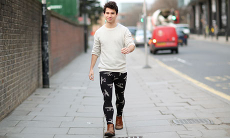 Patrick Kingsley takes to the streets in men's leggings