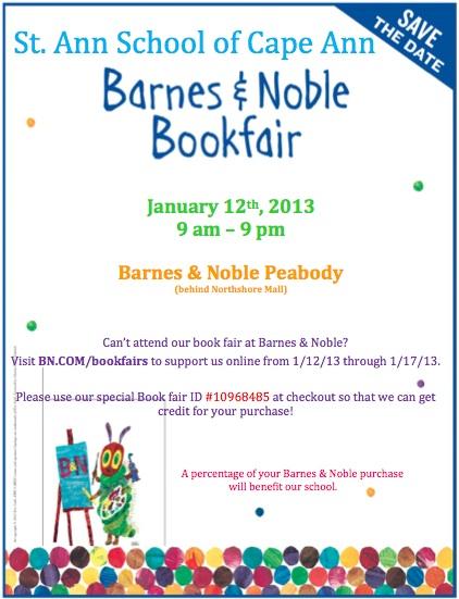 st ann school book fair