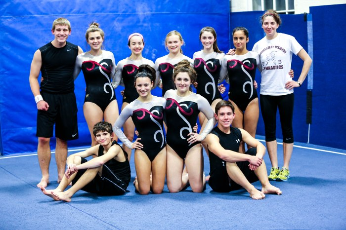 The TigerFish Gymnastic team is a co-op team of student athletes from Ipswich and Gloucester High School