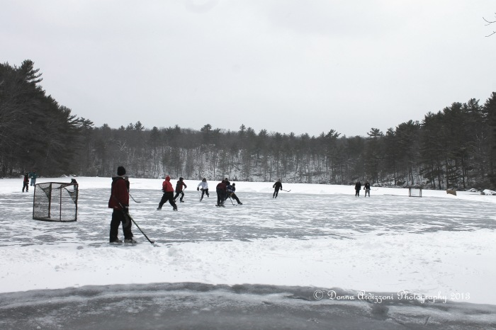 February 3, 2013 having fun on Buswell Pond
