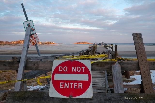 Good Harbor Beach Foot Bridge. Storm Damage -2 ©Kim Smith 2013