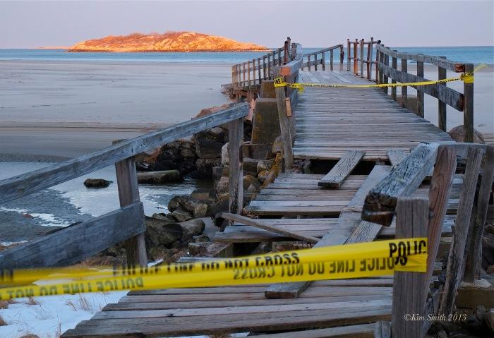 _Good Harbor Beach Foot Bridge. Storm Damage -3 ©Kim Smith 2013