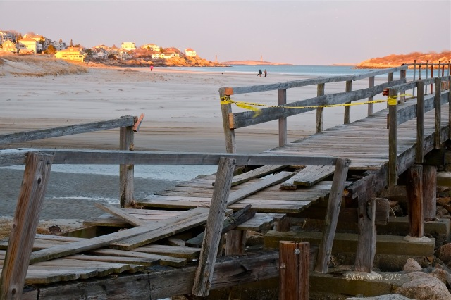 Good Harbor Beach Foot Bridge. Storm Damage -4 ©Kim Smith 2013