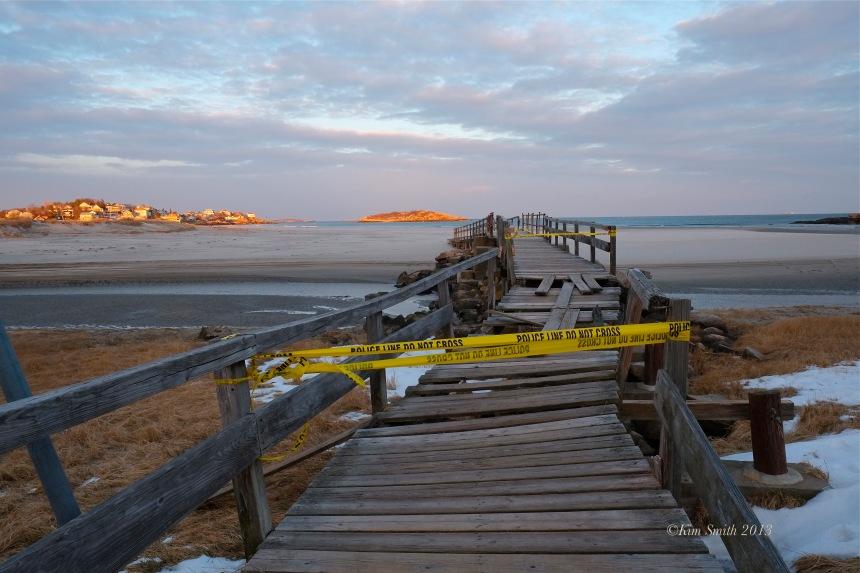 Good Harbor Beach Foot Bridge. Storm Damage -5 ©Kim Smith 2013