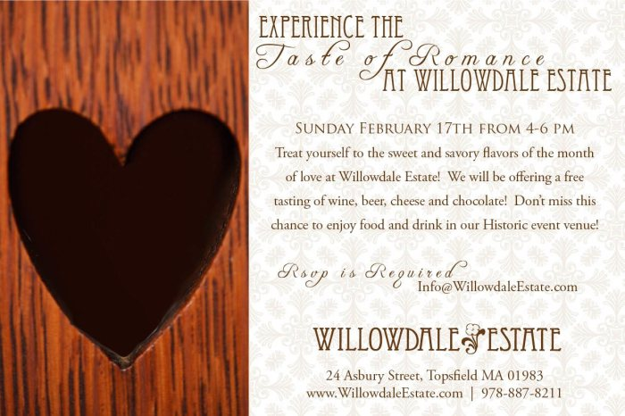 Willowdale Estate A Taste of Romance