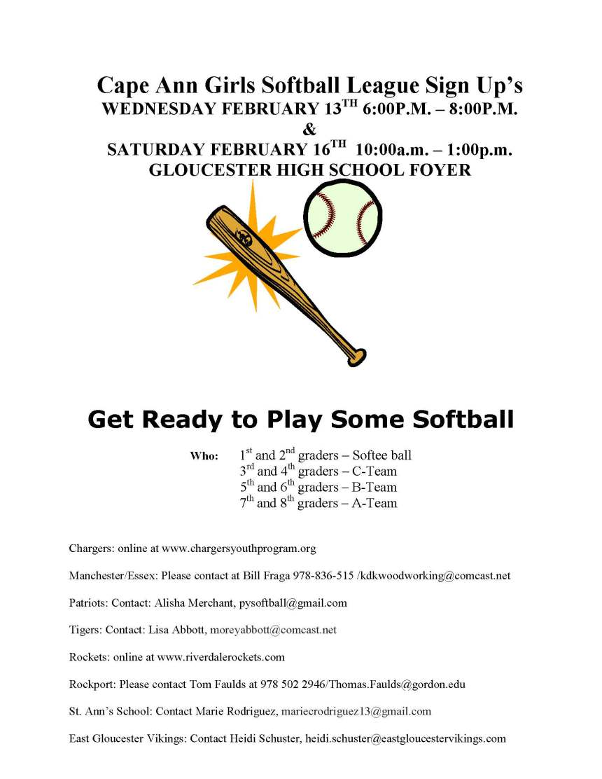 gloucester softball signups