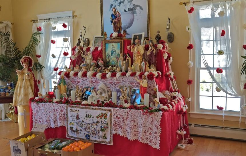 Gloucester St. Joseph Feast Altar ©Kim Smith 2013