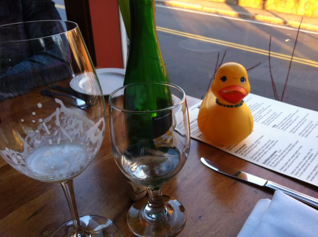 Rubber Duck chillin' at Duckworth's Bistrot