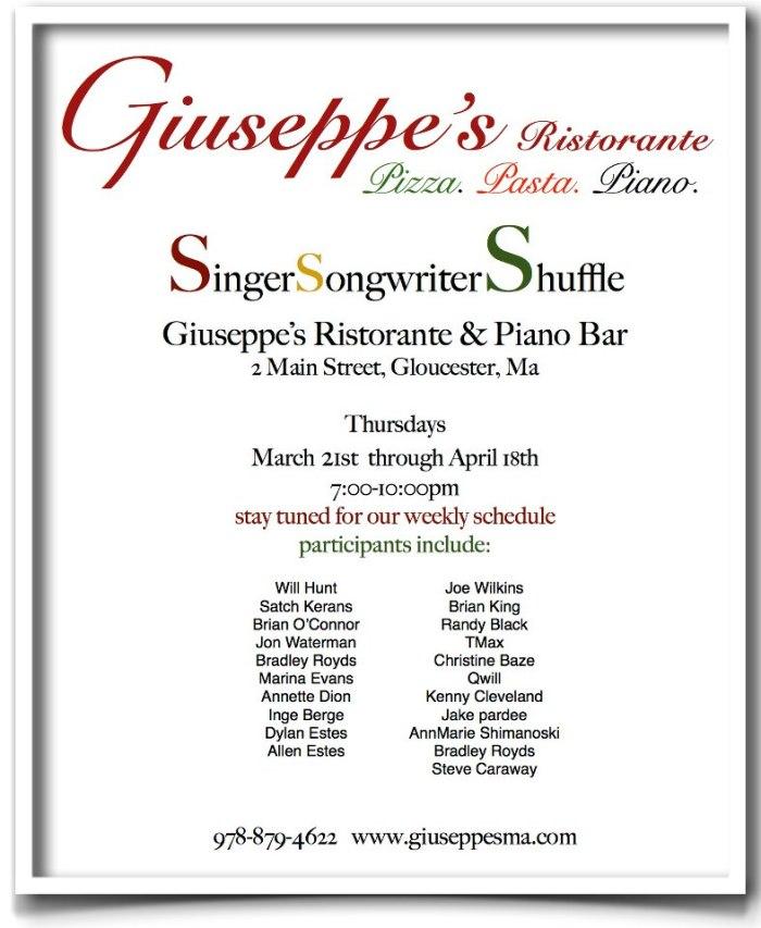 singer songwriter giuseppes thursdays