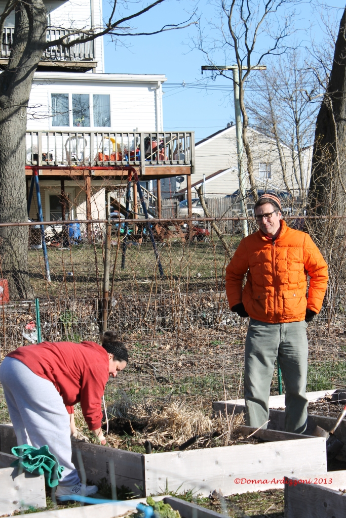 April 6, 2013 FOB John working the gardens