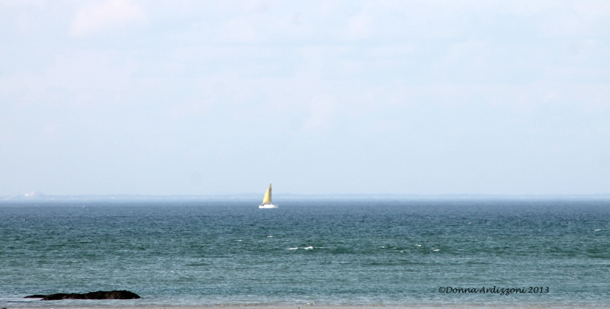 April 9, 2013 Lone sail boat
