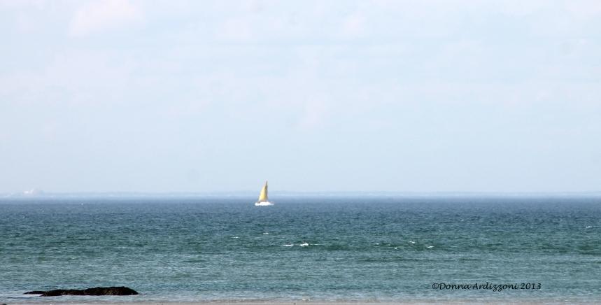 April 9, 2013 Lone sail boat