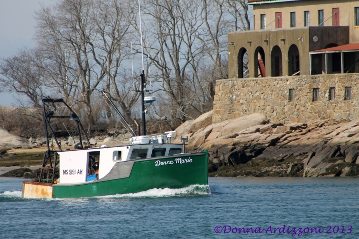 April 9, 2013 The Donna Marie going down the Annisquam