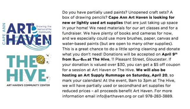 Art Haven Supplies and Fundraiser 2