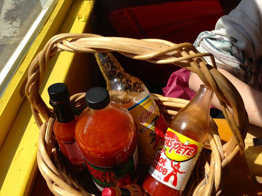 Hot Sauce at Sailor Stan's