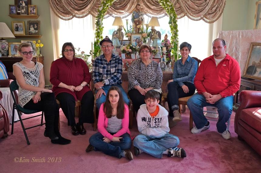 Marie Silva Family ©Kim Smith 2013
