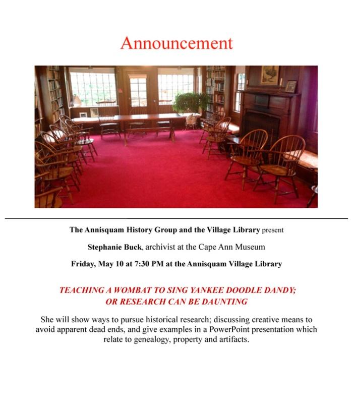 S Buck announcement copy