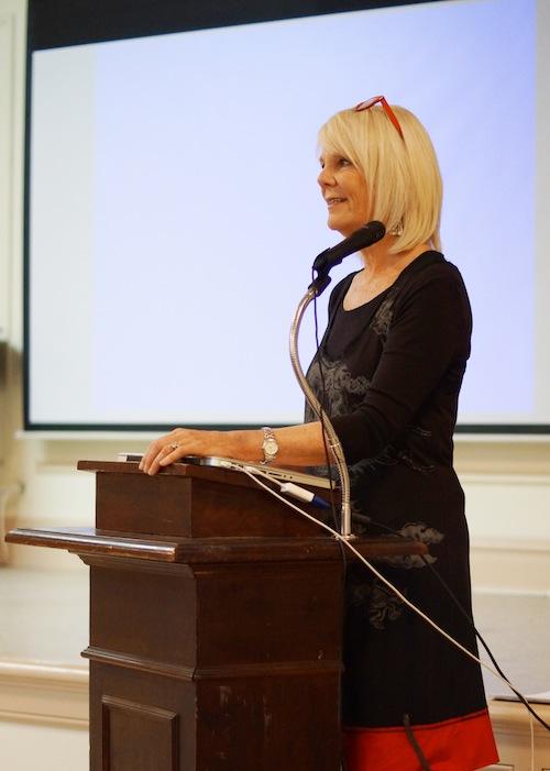 Barbara Moody at the podium small