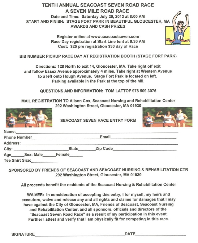 FOS 2013 Race Registration Form