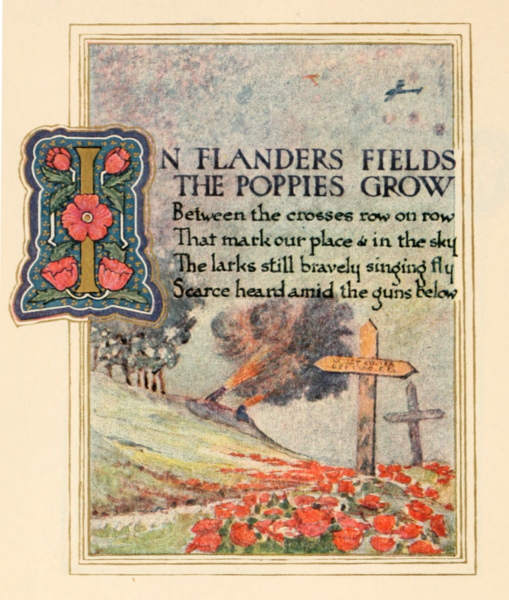 In Flander's Field Illustration 1921