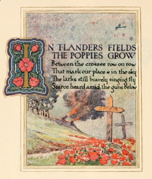 In Flander's Field Illustration 1921