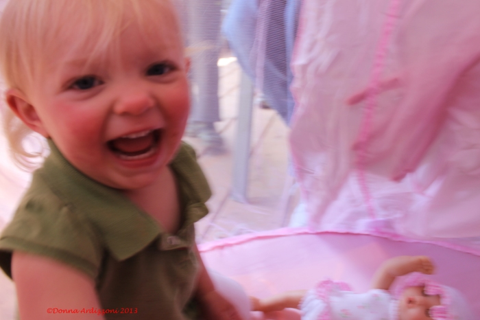 May 18, 2013 Happy Birthday Avery in her pink tent