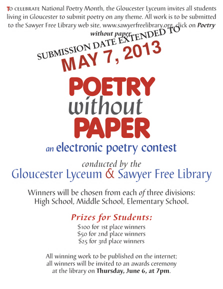 Poetry contest extended