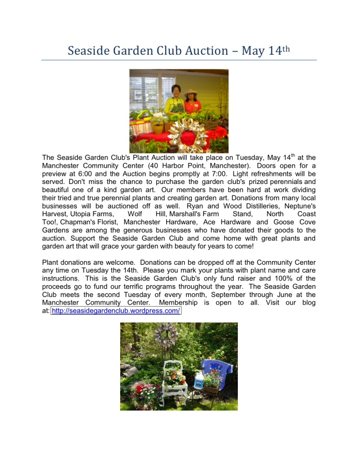 Seaside Garden Club Auction 2013-1