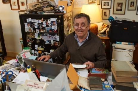 David Cox at his desk