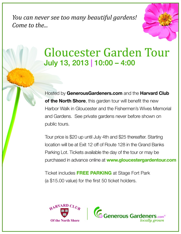 new Garden Tour Flyer