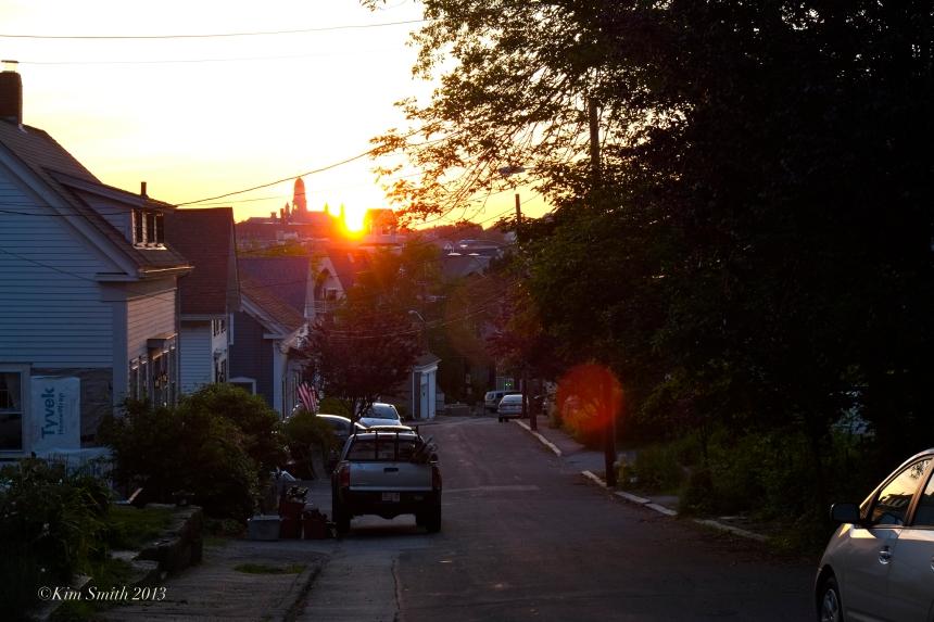 Gloucester City Hall Sunset from Plum SStreet ©Kim Smith 2013