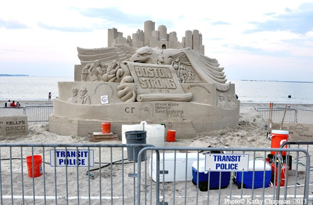 BostonStrongRevereBeachSandcastle