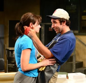 Florence( Aimee Doherty) and Porker( Thomas Phillip O'Neill) photo: Gary Ng
